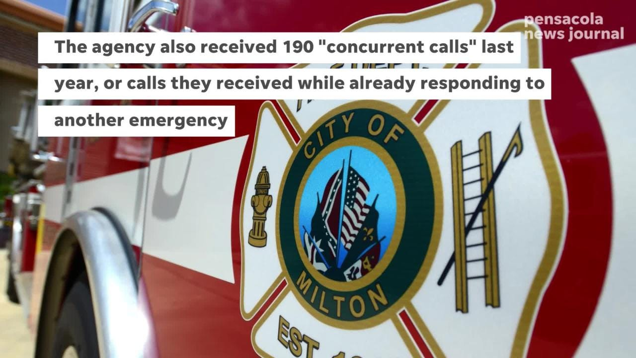 The Milton Fire Department says it's being spread thin as calls for emergency services spike in the local area.