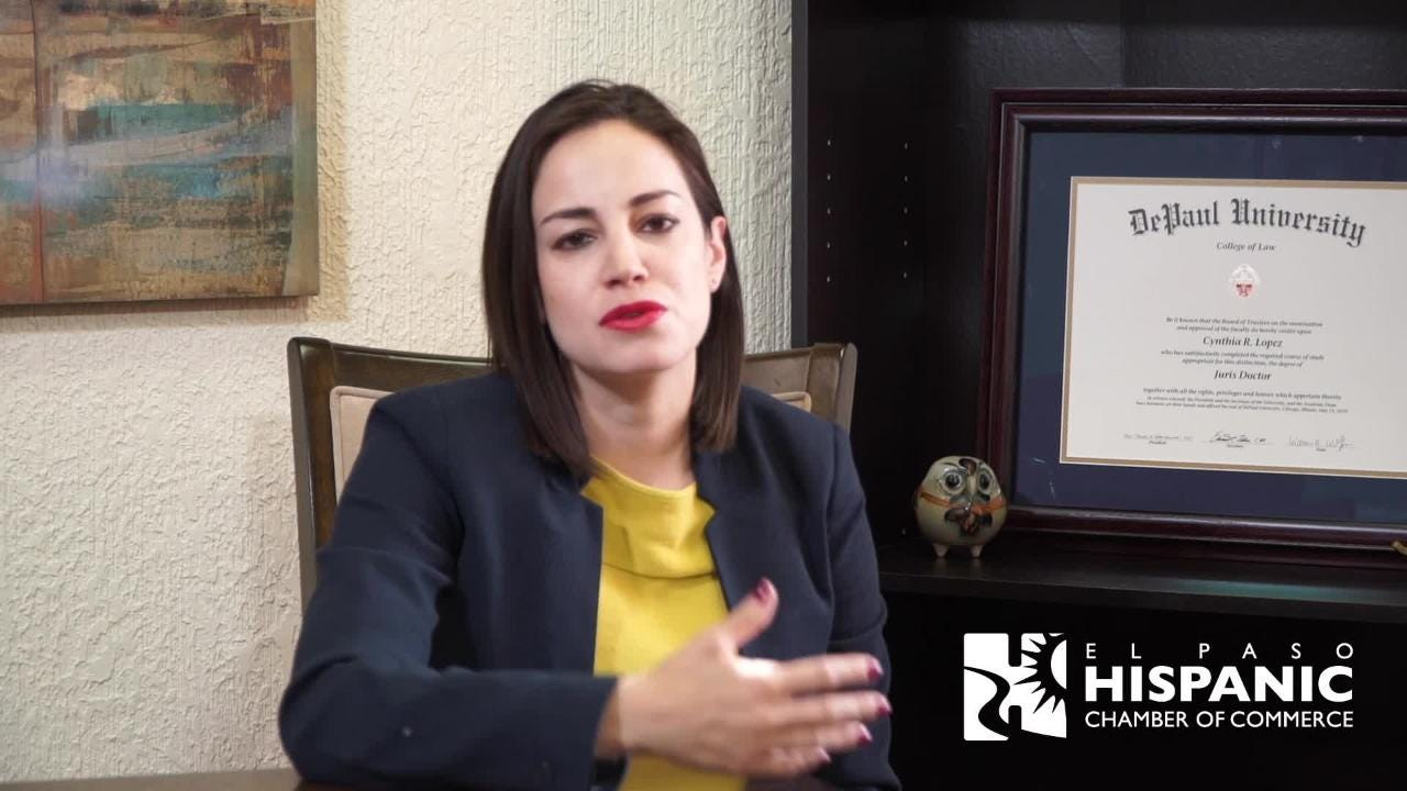 Part of video that El Paso Hispanic Chamber of Commerce sending to President Trump.