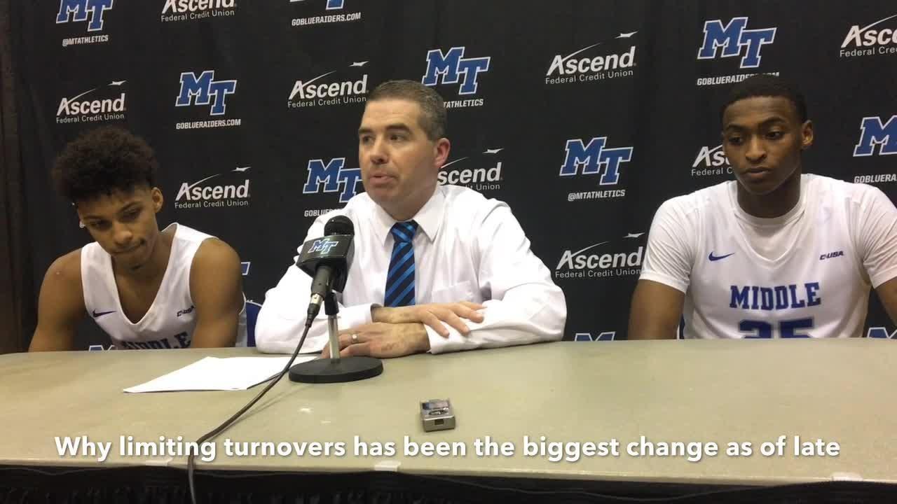 MTSU coach Nick McDevitt discusses the Blue Raiders' 71-53 win over Charlotte on Feb. 7, 2019.