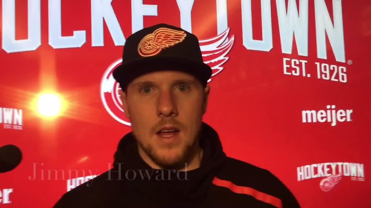 Michael Rasmussen shows his value to the Detroit Red Wings' rebuilding efforts. Filmed Feb. 7, 2019 in Detroit.