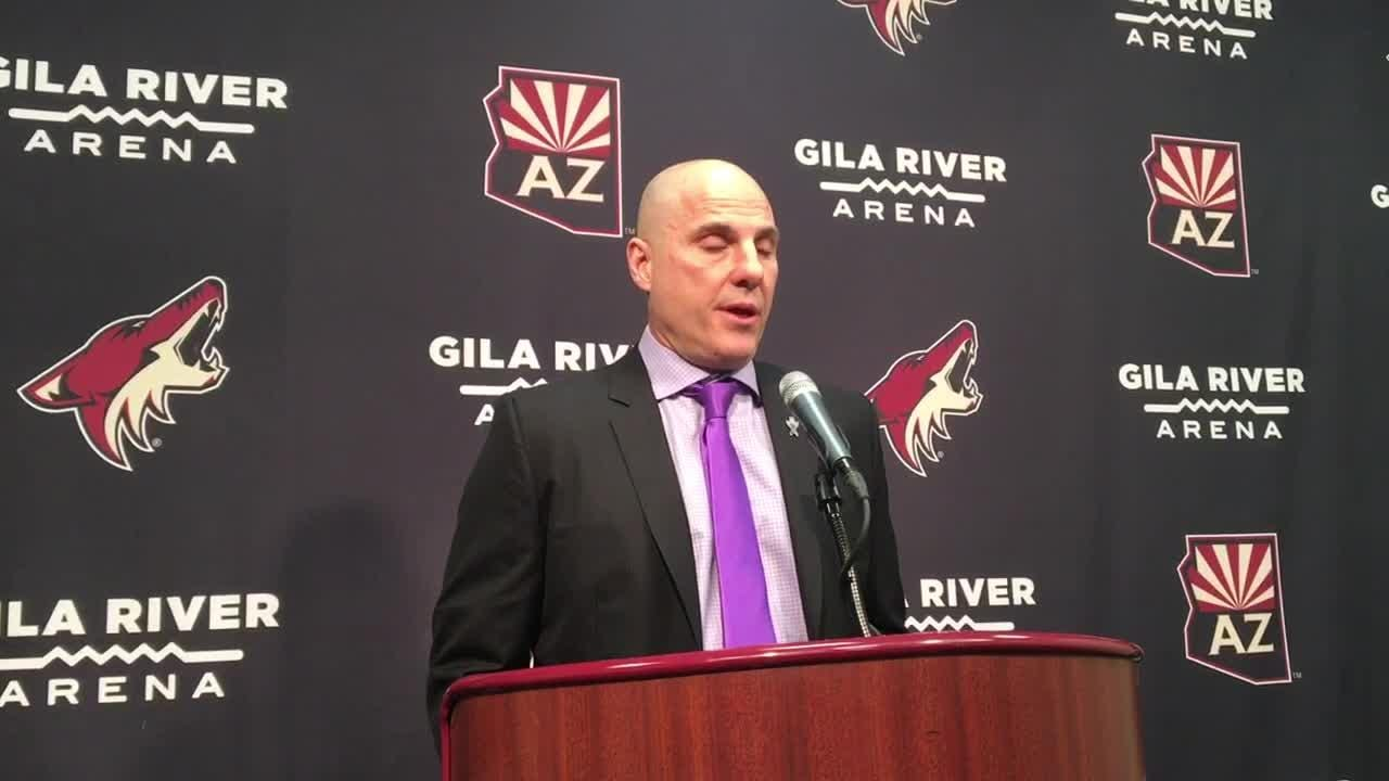 Coyotes head coach Rick Tocchet breaks down 4-2 loss to Blue Jackets