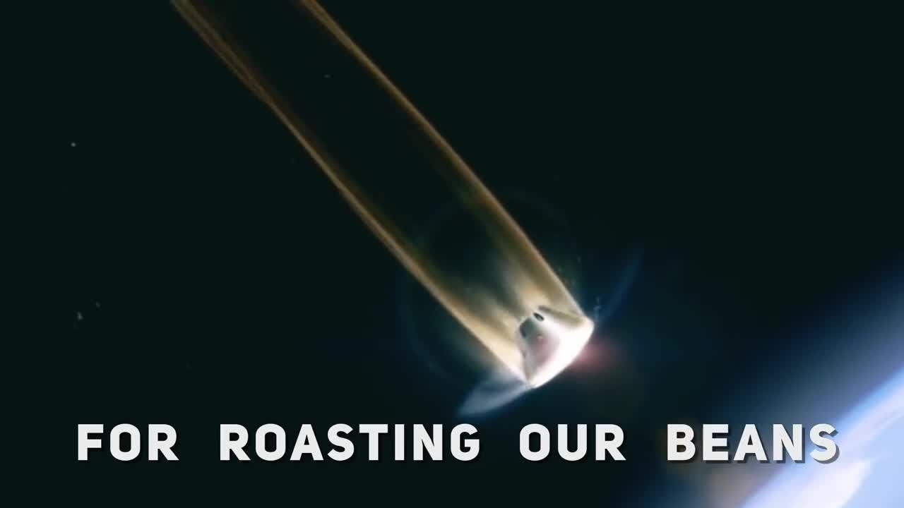 A new startup company wants to roast coffee beans in space.