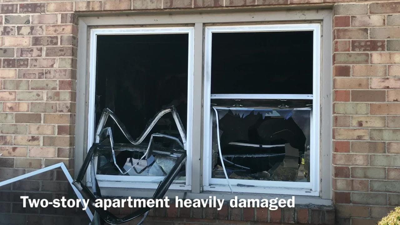 No injuries were reported at the Miller Street Apartments in Staunton, where a fire broke out Friday morning.