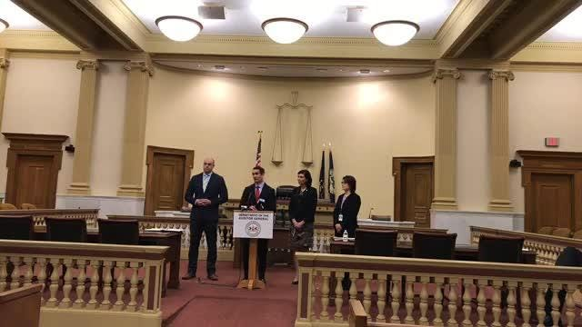 Pennsylvania Auditor General Eugene DePasquale is preparing a report on criminal justice reform. He held a news conference on Friday in York.