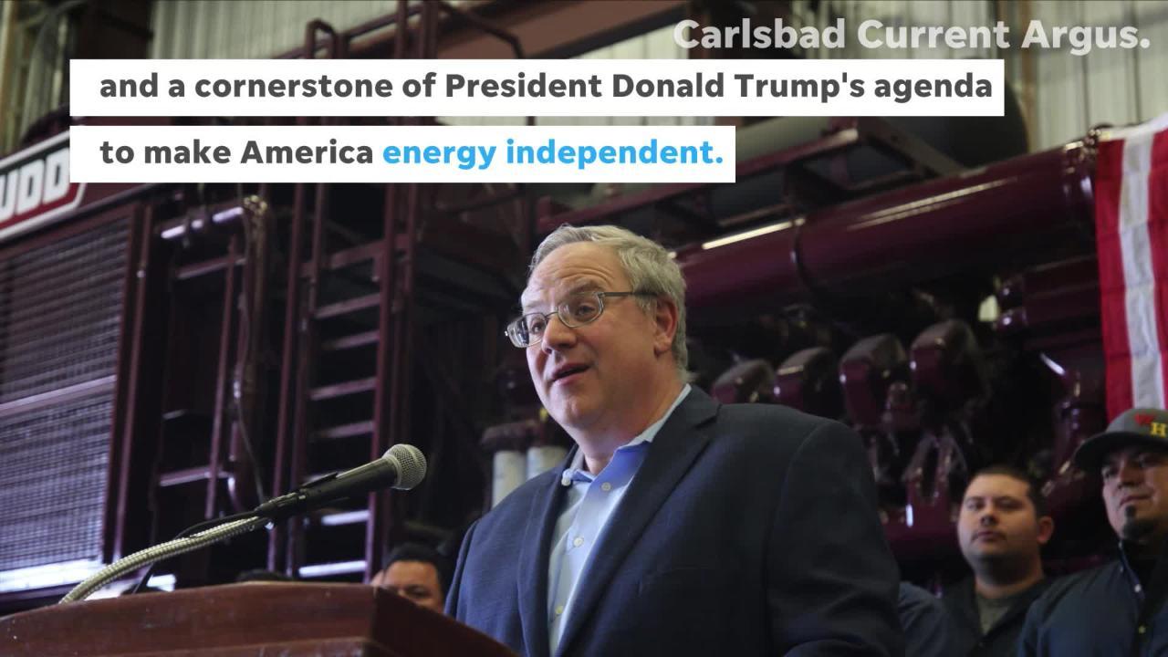 U.S. Interior Secretary David Bernhardt toured an oil rig facility in Hobbs, New Mexico.