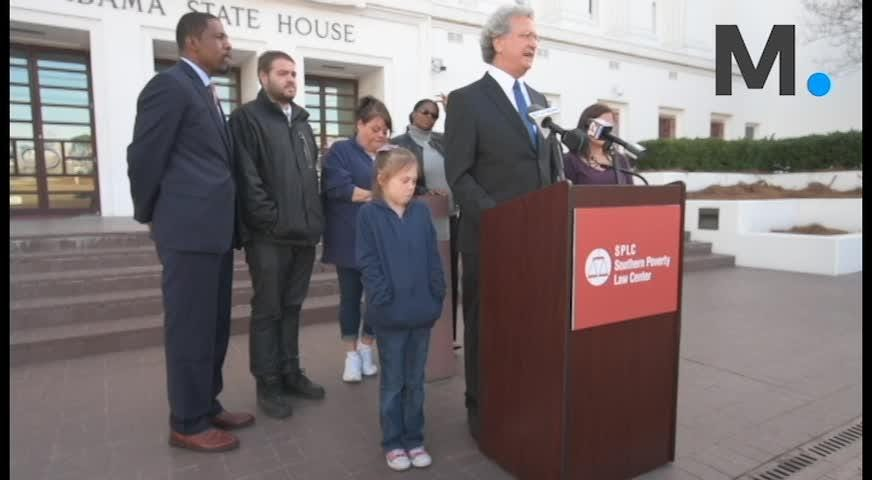 Richard Cohen, president of Southern Poverty Law Center, speaks as the Southern Poverty Law Center holds a press conference to update the status of their lawsuit against the Alabama Department of Corrections, dealing with the medical and mental health needs of inmates.