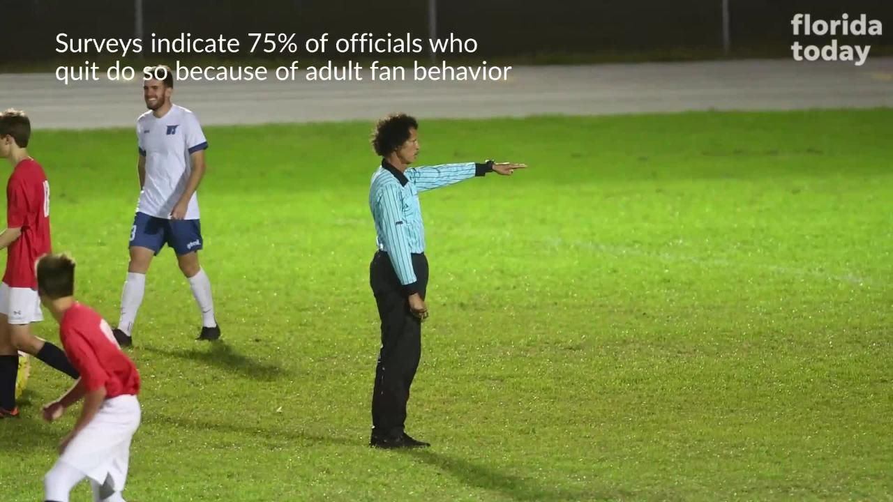 The FHSAA has joined the NFHS in asking for less antagonism toward game officials. Video by Brian McCallum. Posted Jan. 29, 2018.