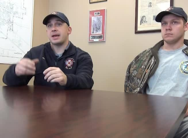 Clinton firefighters, Jay Barlow and Chase Chappell talk about rescuing a man as well as protecting each other.