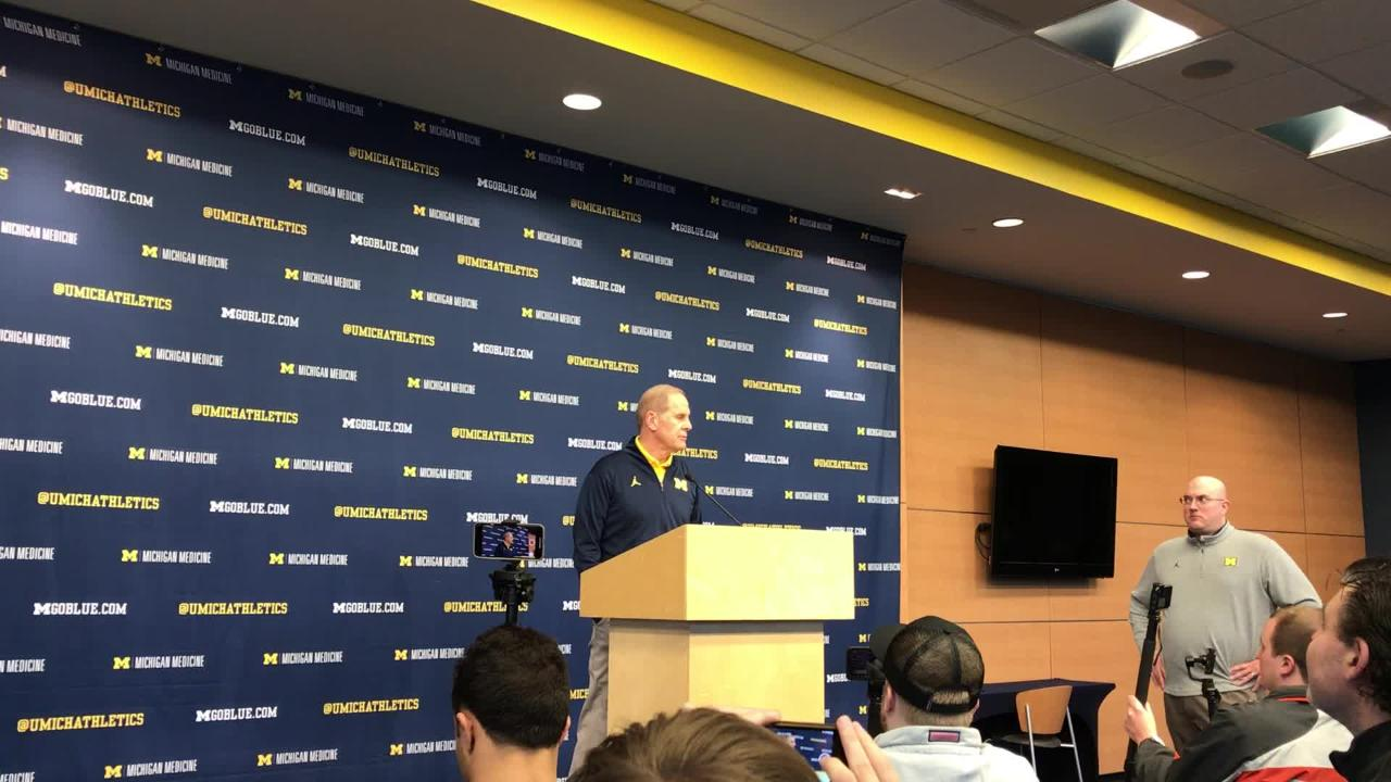 Michigan coach John Beilein says Wisconsin is playing as well as any team in the country, and discusses the challenge they present Feb. 8, 2019.