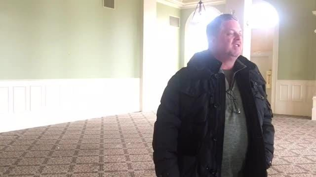California developer Jeff Katofsky toured the historic Hotel Harrington, 1026 Military St., with local business officials on Thursday, Feb. 7, 2019.