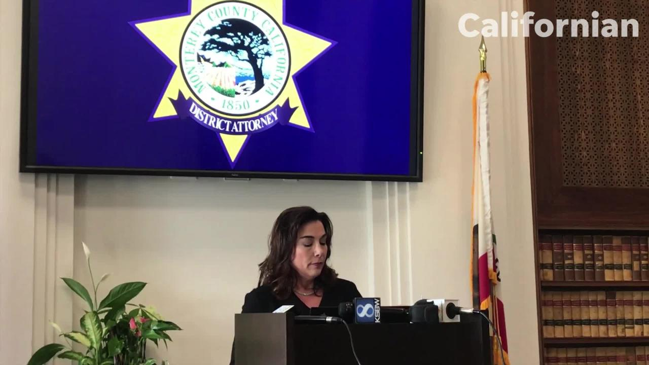 Monterey County District Attorney Jeannine Pacioni goes over the investigative process for officer-involved shootings.