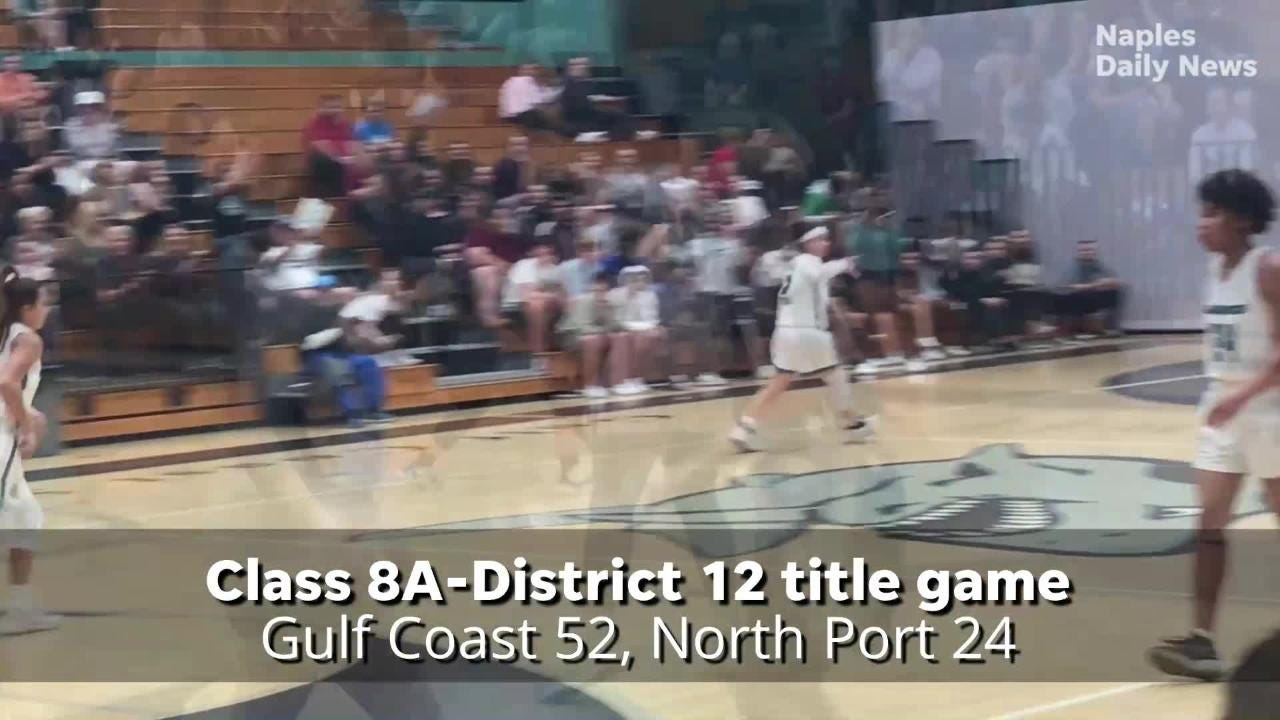 Watch: Gulf Coast girls cruise past North Port for third straight district  title