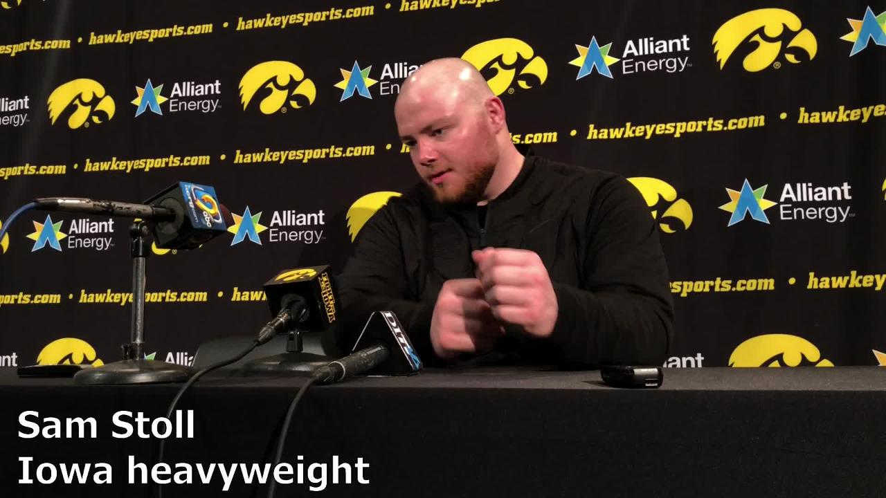 Iowa heavyweight Sam Stoll beat Maryland's Youssif Hemida, 1-0, on Friday night. The senior is currently ranked No. 7 in the country.