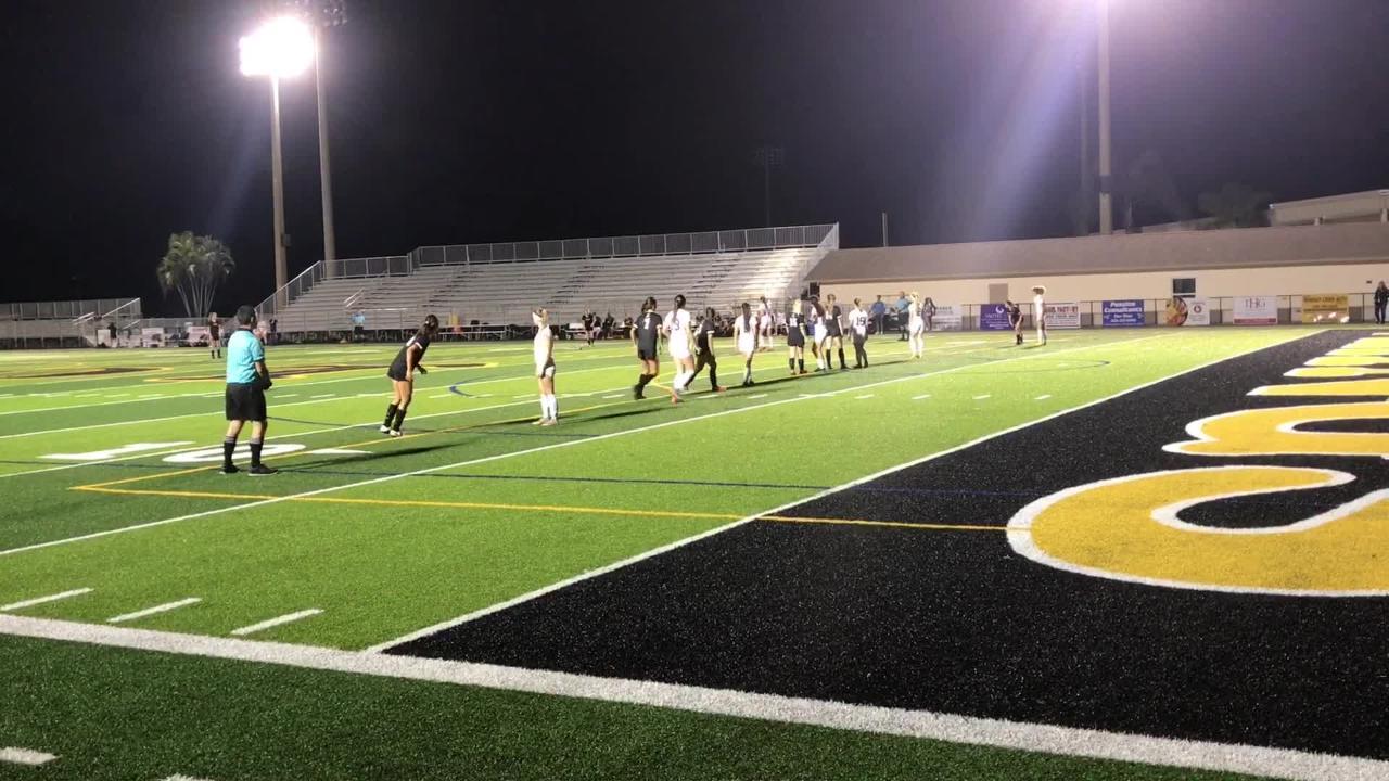 A marvelous goal from sophomore Ella Sarnac sparked Bishop Verot to a 4-0 win over Oasis to reach the regional finals for the sixth time in their last 10 years.