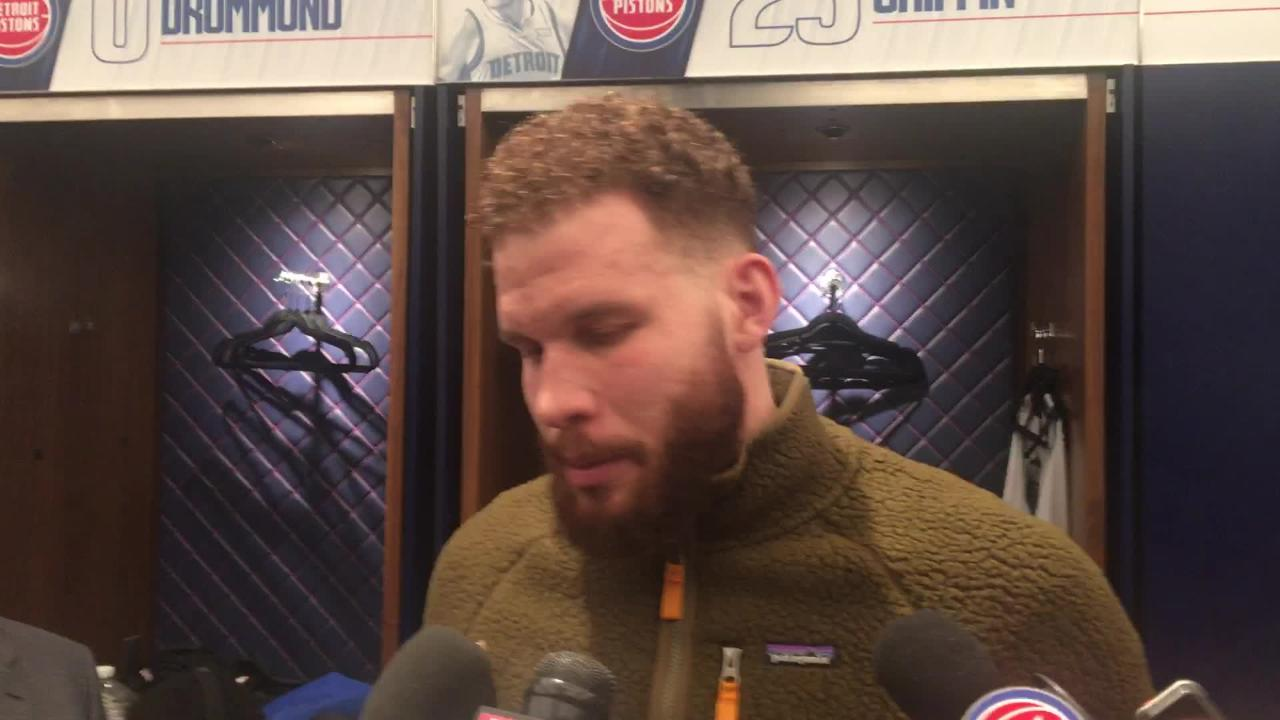 Detroit Pistons have played with the right spirit during three-game winning streak, says Blake Griffin on Friday, Feb. 8, 2019.