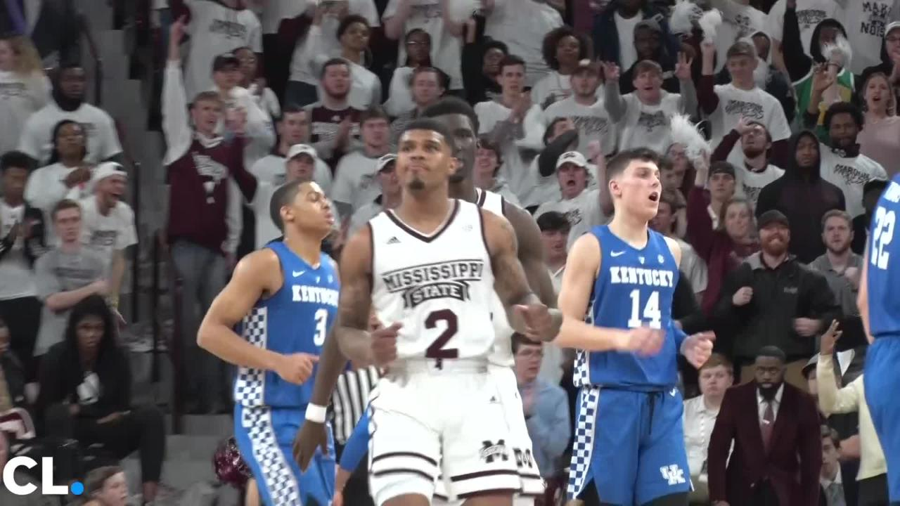 No. 5 Kentucky defeats Mississippi State 71-67 Saturday afternoon.