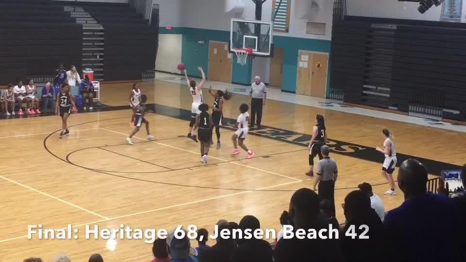 Heritage basketball defeated Jensen Beach at Bayside High. Posted Feb. 9, 2019.