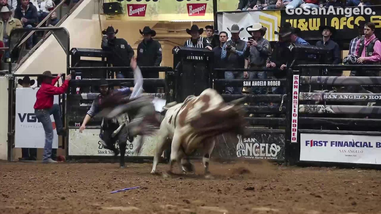 The bulls won Saturday's show of the San Angelo Stock Show & Rodeo Feb. 9, 2019.