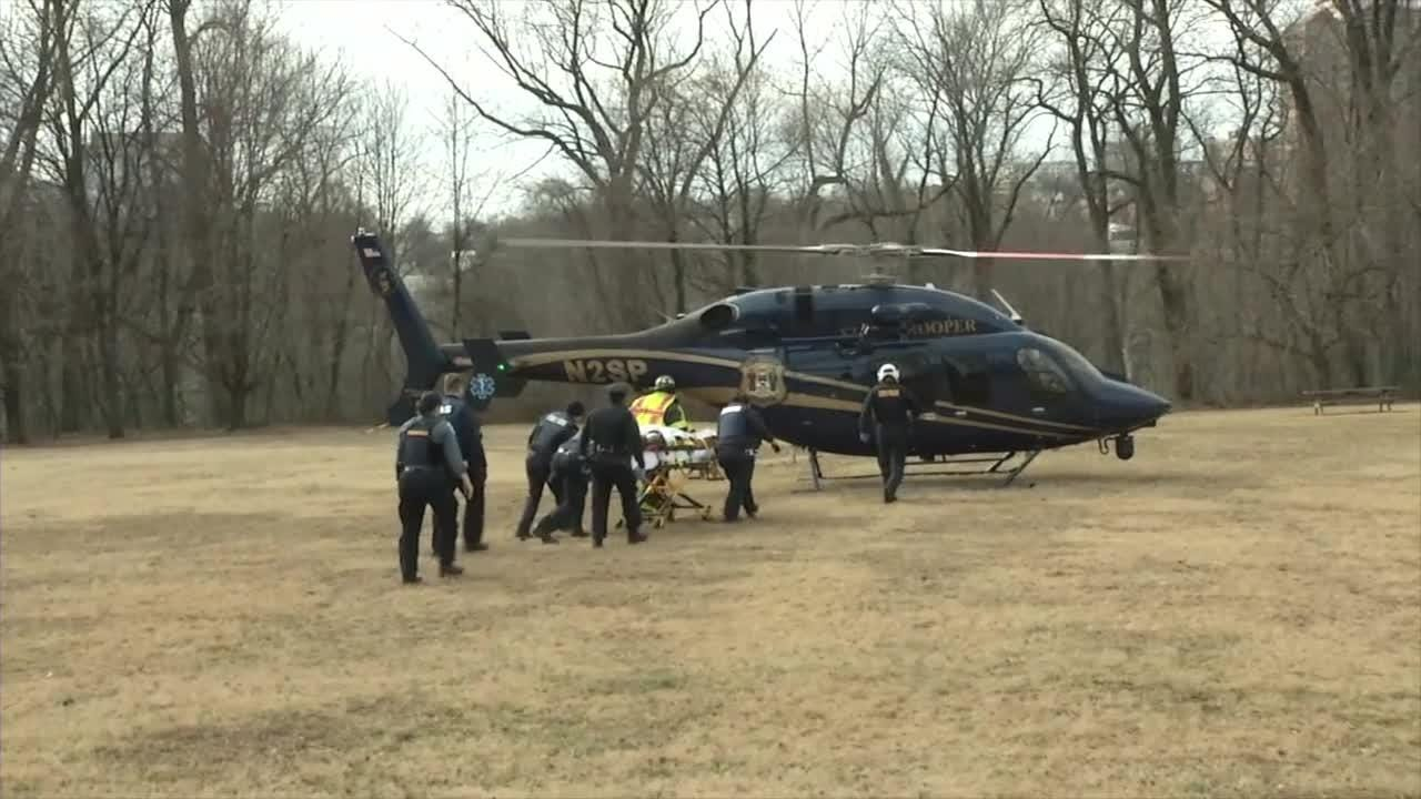 Raw Video: Man airlifted after stabbing in Wilmington