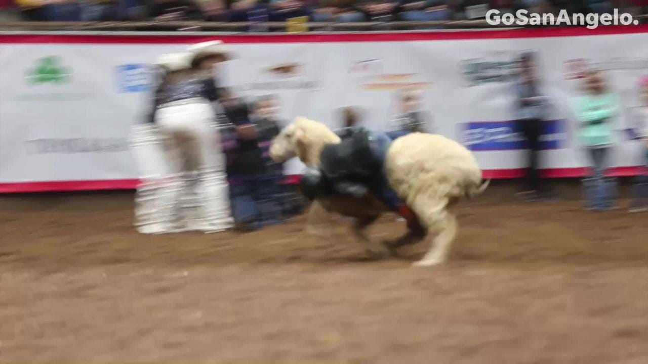 Kids riding sheep was a show stealer at the San Angelo Stock Show & Rodeo.