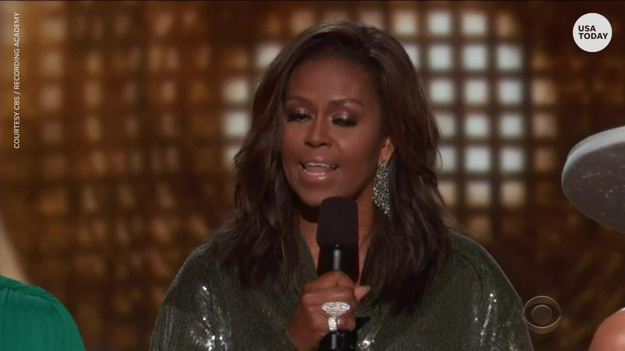 Michelle Obama made a surprise appearance at the Grammys 2019 to support host Alicia Keys.