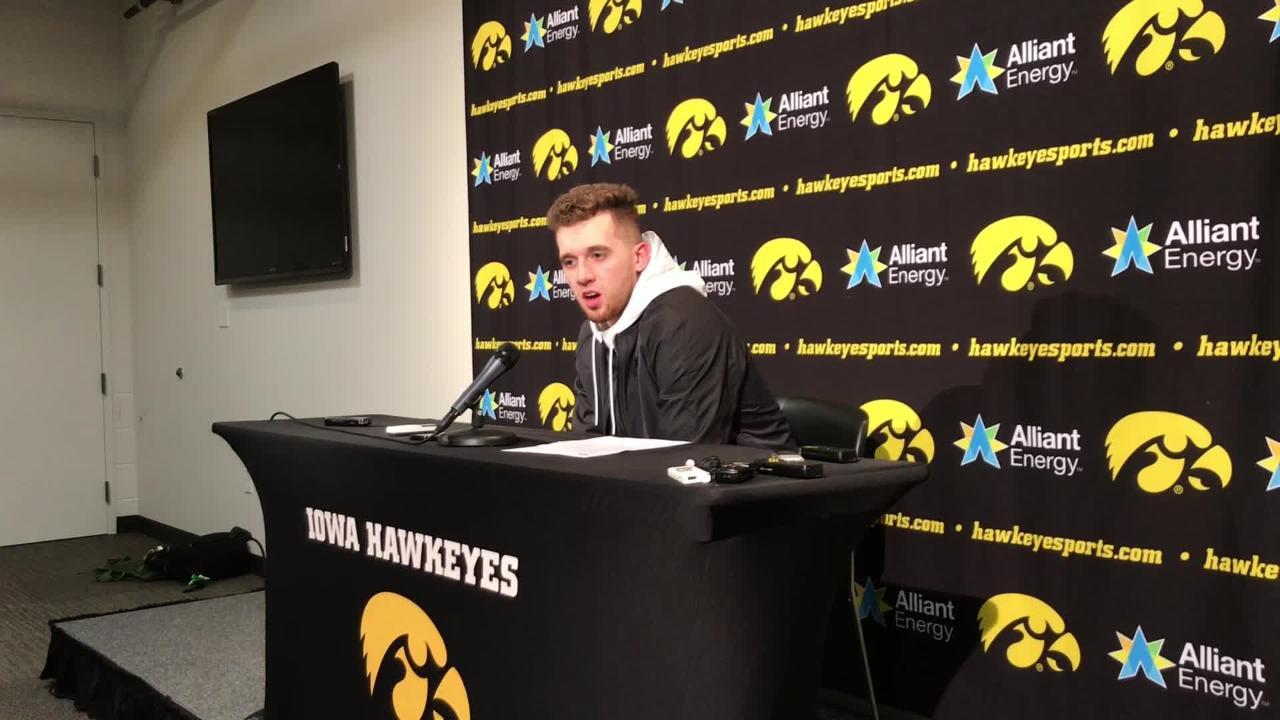 Iowa guard Jordan Bohannon embraces big moments like his game-winning shot Sunday. Why? Hear him explain: