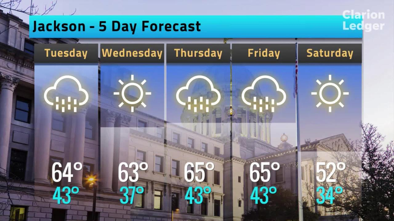 Jackson Weather Forecast, Monday, Feb. 11, 2019