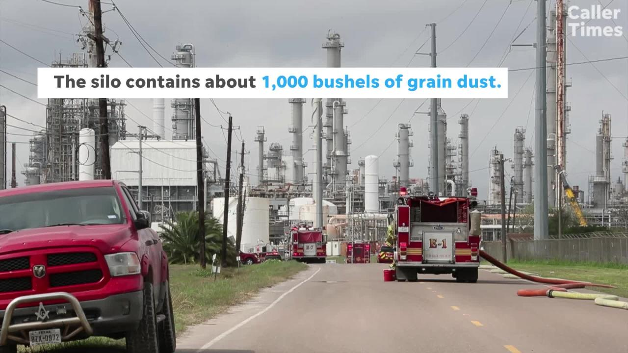 Corpus Christi firefighters responded to a fire at a grain silo on Up River Road. READ ABOUT IT: https://bit.ly/2BzXZUR