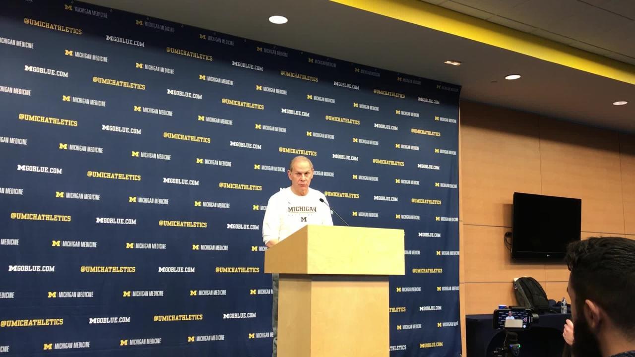 Michigan basketball coach John Beilein speaks to the media on Monday, Feb. 11, 2019, in Ann Arbor.