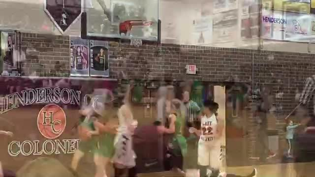 Owensboro Catholic came from behind to beat Henderson County 49-45 Monday at Colonel Gym.