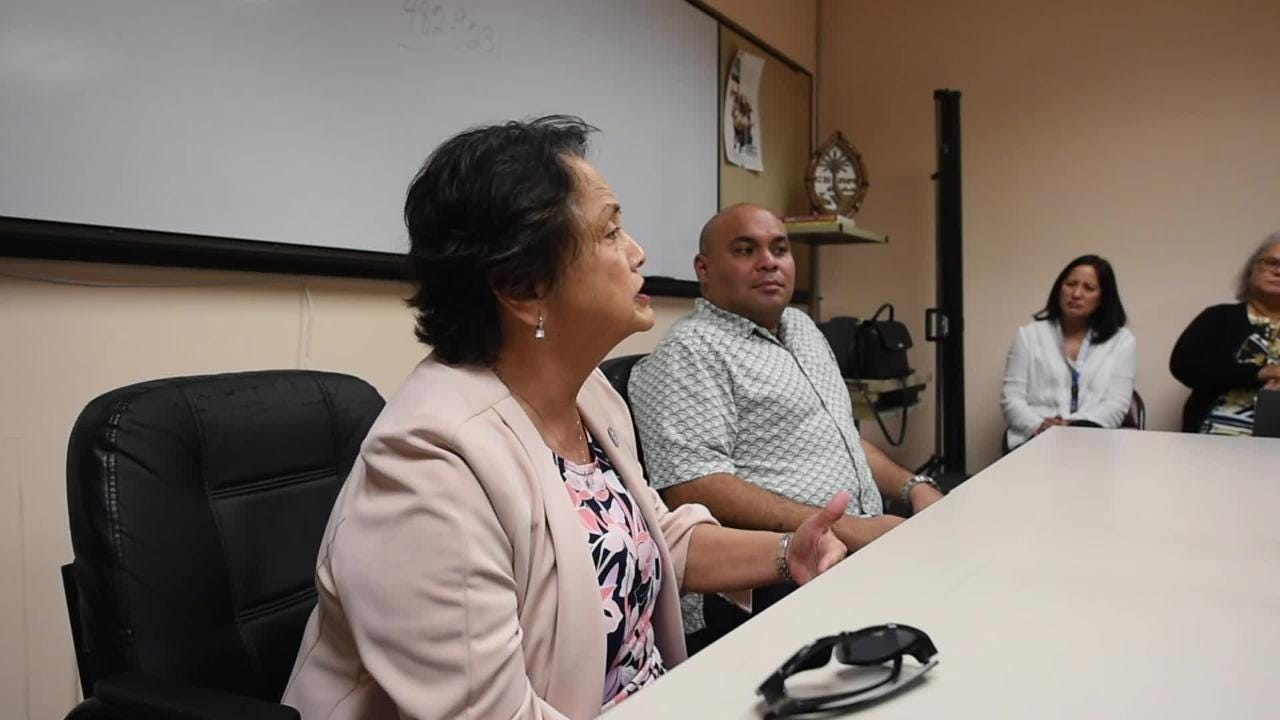 Gov. Lou Leon Guerrero and Lt. Gov. Josh Tenorio tour the Guam Behavioral Health and Wellness Center, Feb. 12, 2019.