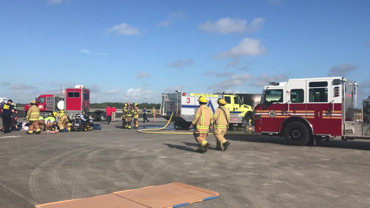 Emergency officials respond to disaster exercise at Vero Beach Regional  Airport