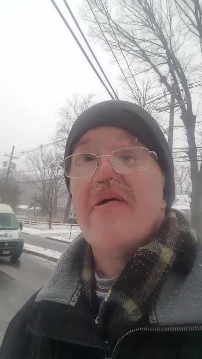 Reporting from North Plainfield during the Feb. 12, 2019 storm