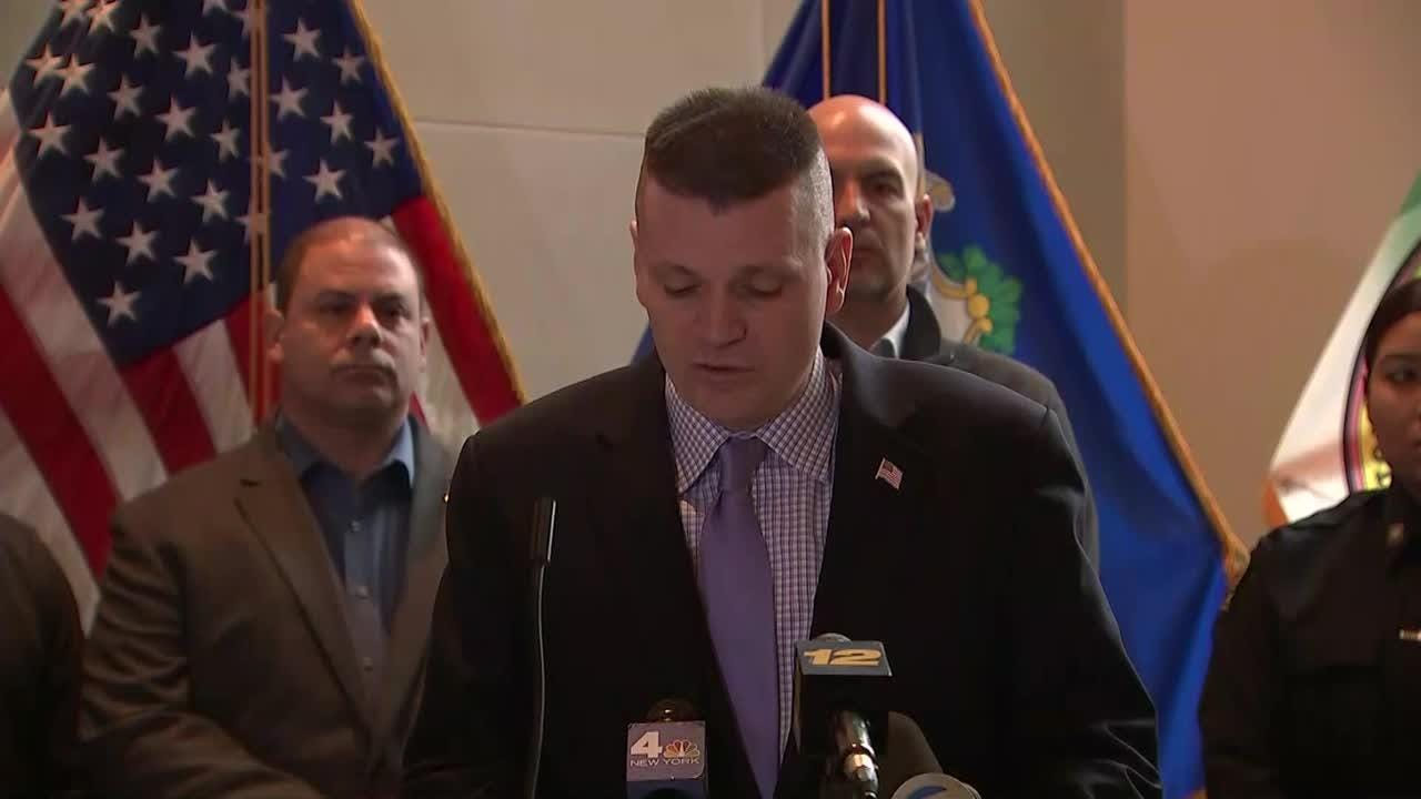 Video from the news conference where an arrest was announced in the death of 24-year-old Valerie Reyes of New Rochelle.