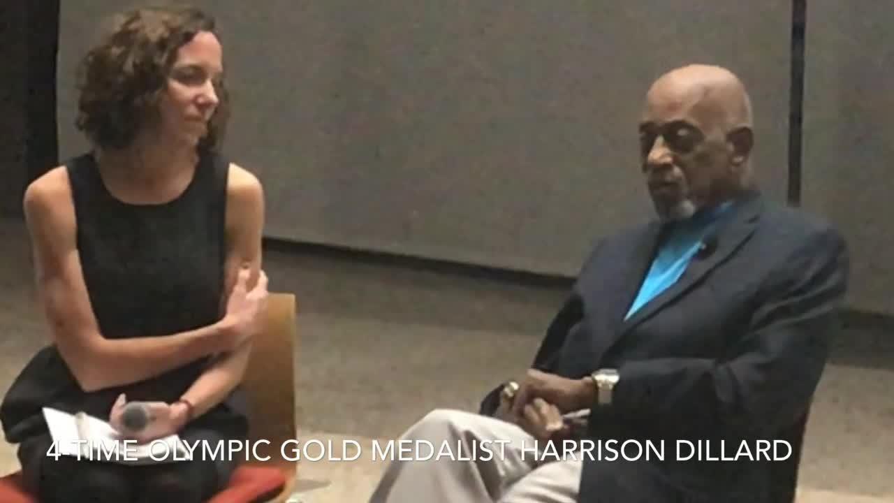 1948 Olympians Harrison Dillard, Herb Douglas during appearance at ASU Global Sport Institute