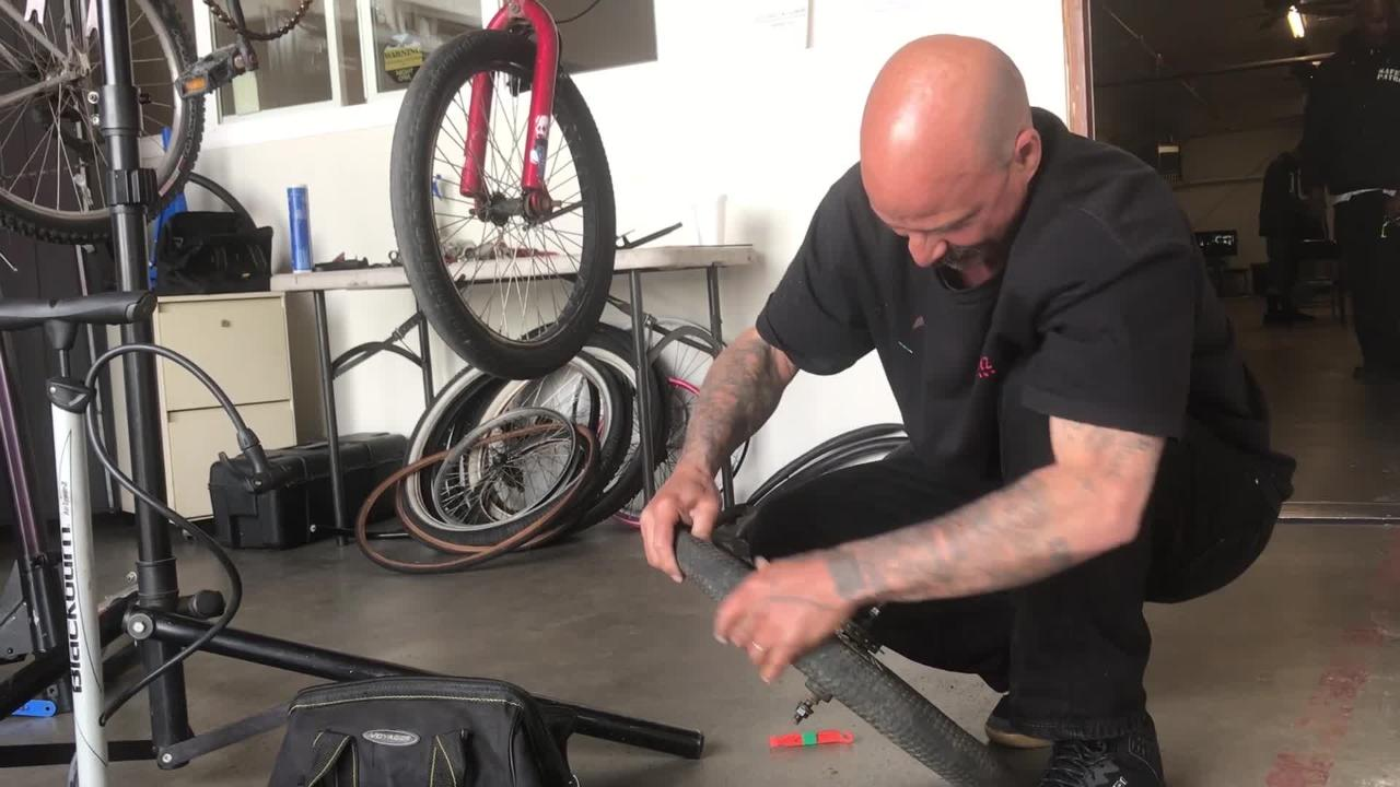 Community Action of Ventura County has partnered with fellow nonprofit BikeVentura to help the homeless repair their rides.