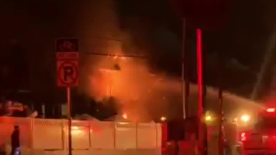 A two-alarm fire gutted an apartment complex on Wheaton Way early Tuesday morning.