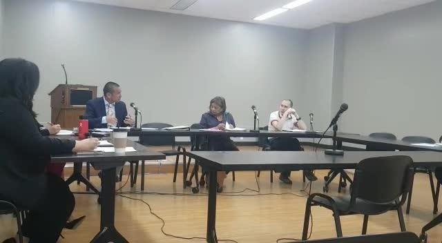 The Commission on Post-Mortem Examiners discuss working with the CNMI in ongoing recruitment efforts for a new medical examiner on Feb. 13, 2019.