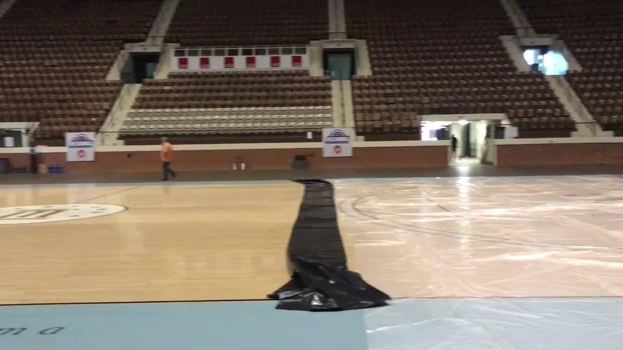 Take a peek inside Garrett Coliseum before it hosts its first AHSAA basketball regional.