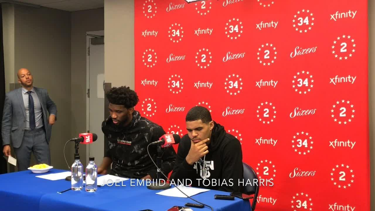 Ben Simmons, Joel Embiid and Tobias Harris on losing to the Celtics.