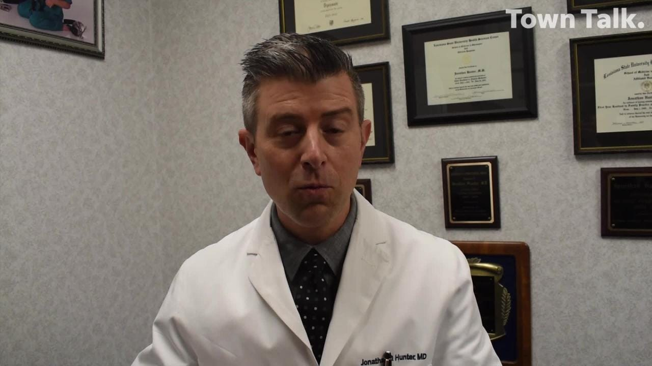 Dr. Jonathan Hunter of Alexandria believes he contracted a bacterium called streptococcus viridan during a routine teeth-cleaning in September. It is a germ found in the human mouth.