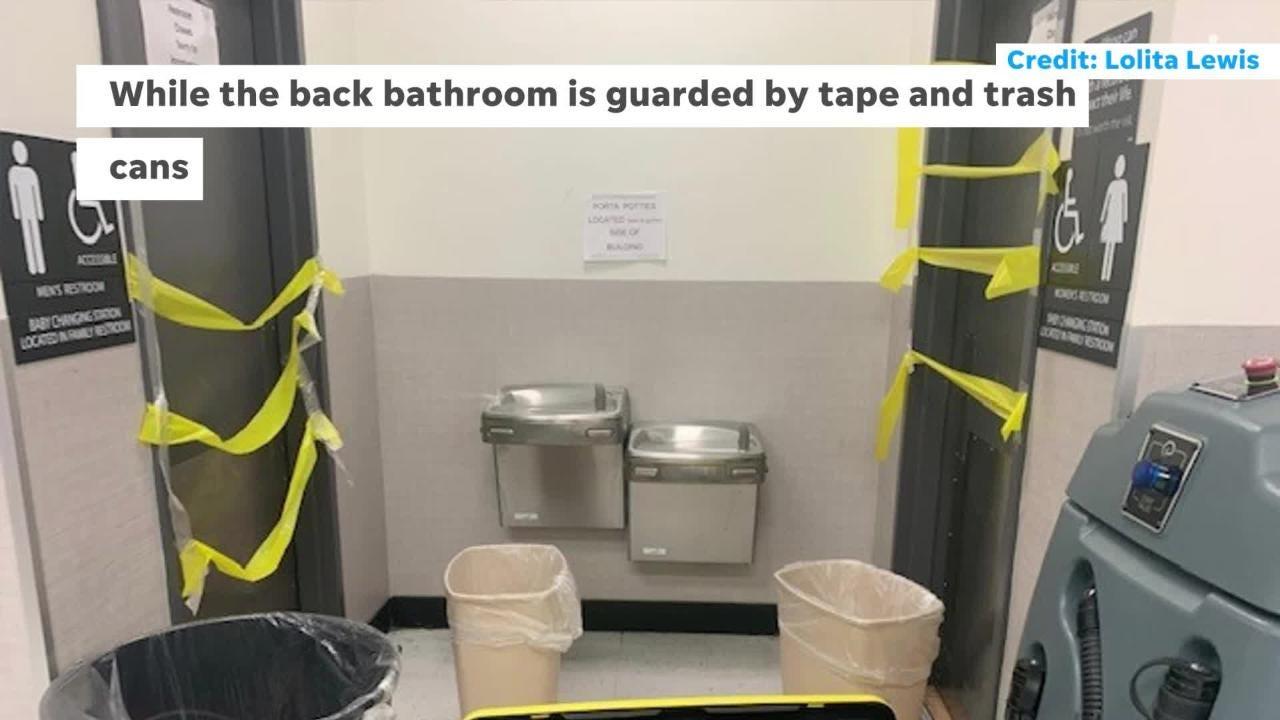Fishkill Walmart Bathrooms Closed Port A Potties Set Up Outside Store