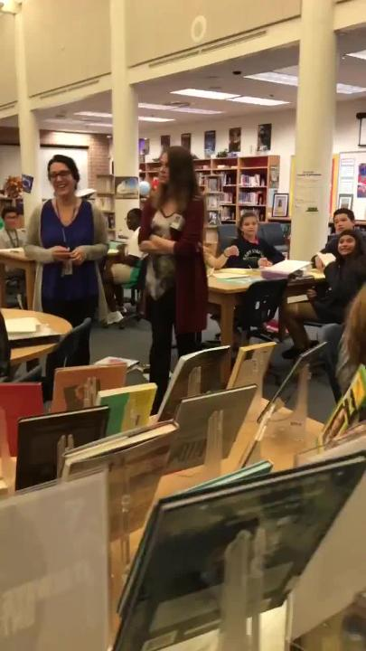 The last Golden Apple went to co-teachers Stephanie Cashion and Denice Giovianazzo from East Naples Middle School.