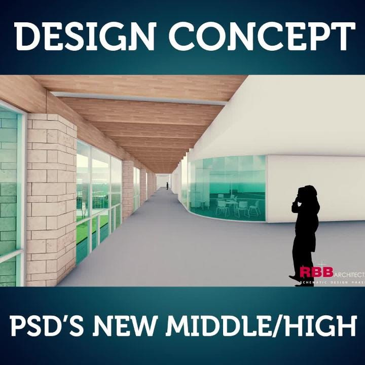 Poudre School District reveals design concepts for two new middle/high schools.