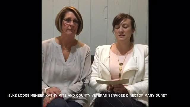 The county's Veteran Services Director Mary Durst explains how a donation will help the county create a peacetime veterans assistance fund.
