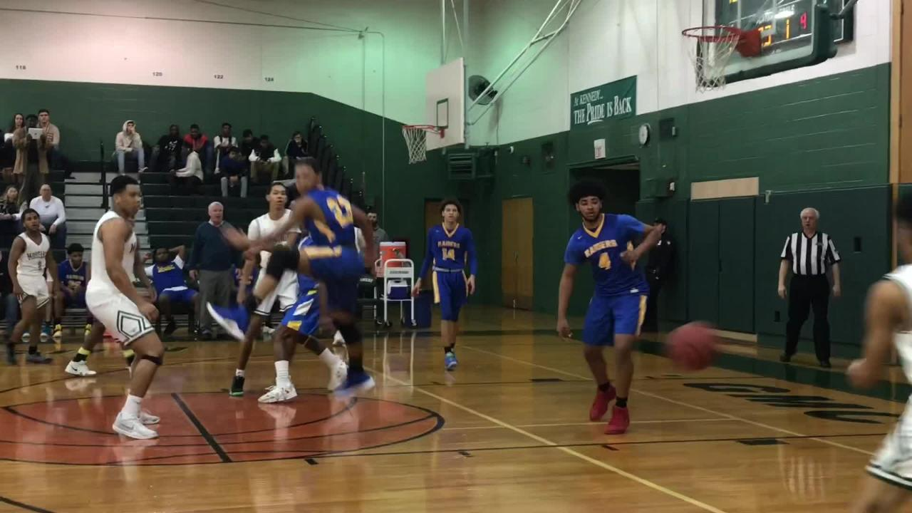 The No. 17 North Brunswick boys basketball team defeated No. 16 J.F. Kennedy 74-54 in the GMC Tournament on Wednesday, Feb. 13, 2019.
