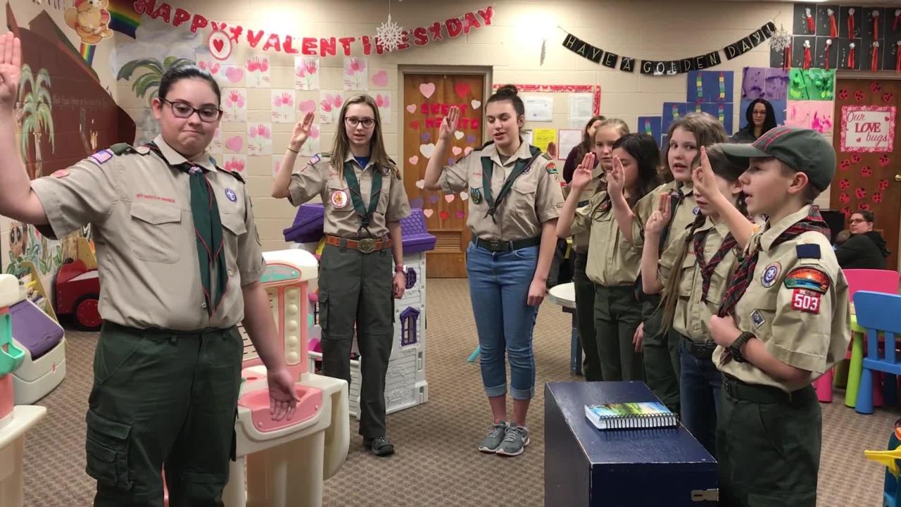 The Boy Scouts of America opened up their ranks to girls, and the first all-girl Scout BSA troop in the Clarksville area is up and running.