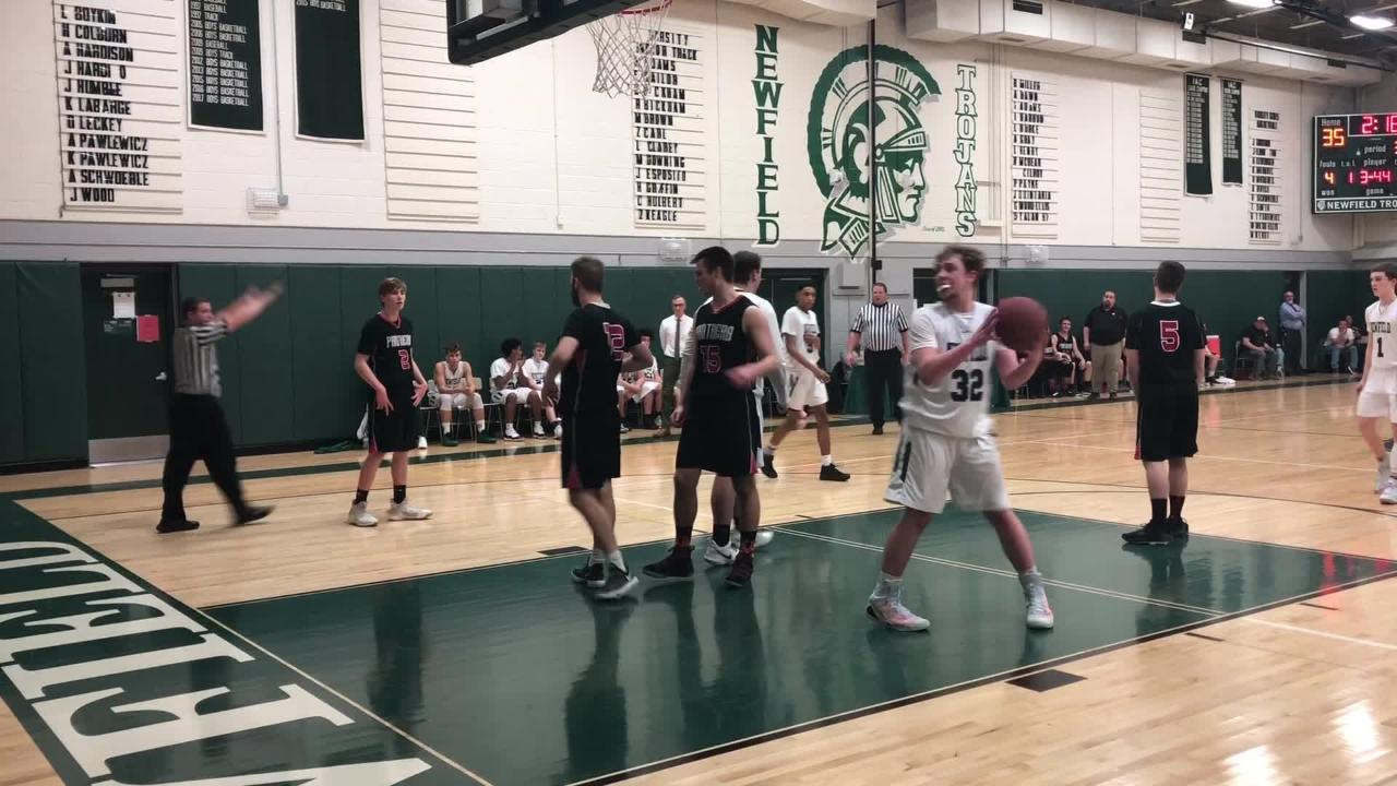 Newfield earned a sixth consecutive division title with a 66-52 win over Spencer-Van Etten in an IAC South Small School tiebreaker Feb. 13, 2019.