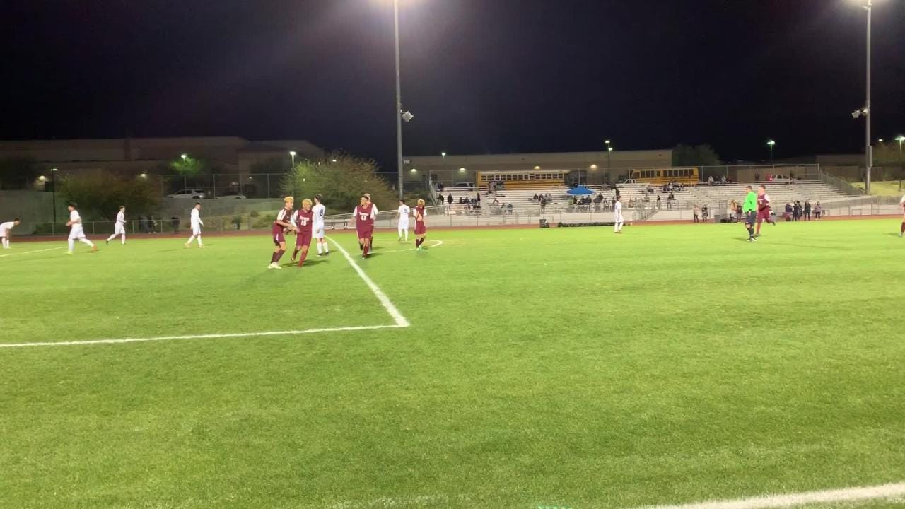Rancho Mirage soccer scores a third goal in the second half of their quarterfinal game against Pacific