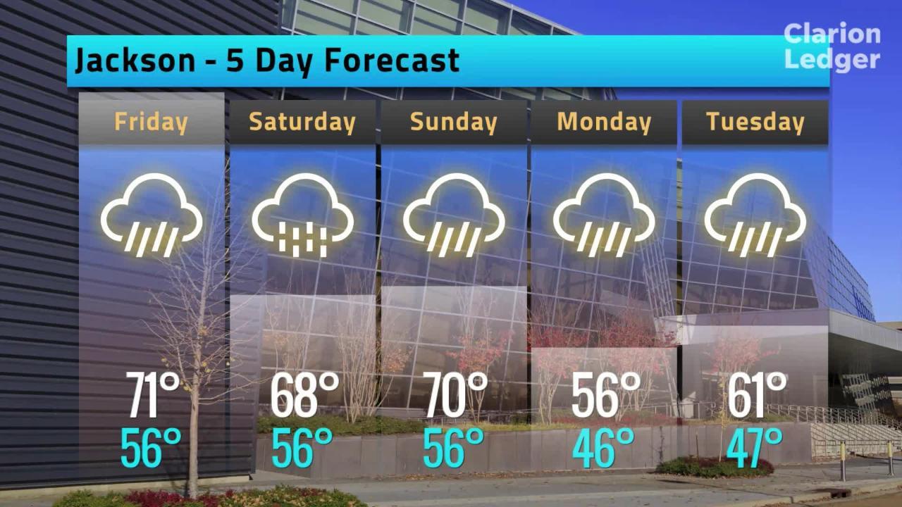 Jackson Weather Forecast, Thursday, Feb. 14, 2019